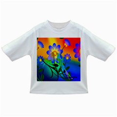 Abstract Flowers Bird Artwork Infant/Toddler T-Shirts