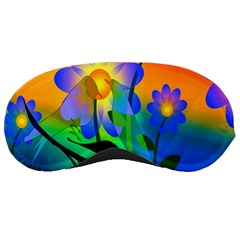 Abstract Flowers Bird Artwork Sleeping Masks
