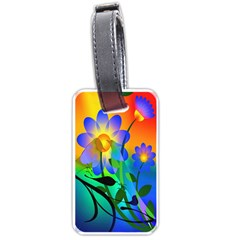 Abstract Flowers Bird Artwork Luggage Tags (One Side)