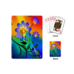 Abstract Flowers Bird Artwork Playing Cards (Mini)