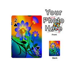 Abstract Flowers Bird Artwork Playing Cards 54 (Mini)