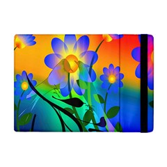 Abstract Flowers Bird Artwork Apple iPad Mini Flip Case