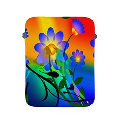 Abstract Flowers Bird Artwork Apple iPad 2/3/4 Protective Soft Cases