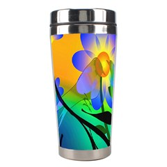 Abstract Flowers Bird Artwork Stainless Steel Travel Tumblers