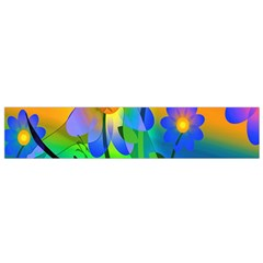 Abstract Flowers Bird Artwork Flano Scarf (small)