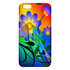Abstract Flowers Bird Artwork Iphone 6 Plus/6s Plus Tpu Case