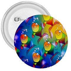Fish Pattern 3  Buttons