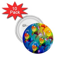 Fish Pattern 1 75  Buttons (10 Pack)