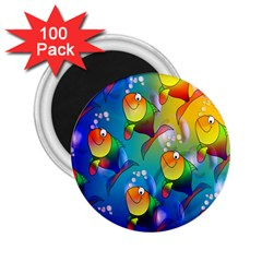 Fish Pattern 2 25  Magnets (100 Pack)