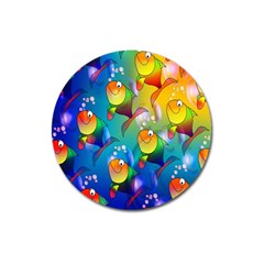 Fish Pattern Magnet 3  (Round)
