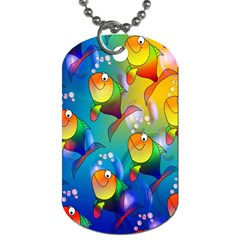 Fish Pattern Dog Tag (one Side)
