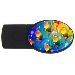 Fish Pattern USB Flash Drive Oval (2 GB)