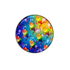 Fish Pattern Hat Clip Ball Marker (4 pack)