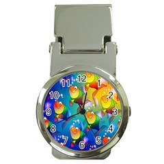 Fish Pattern Money Clip Watches
