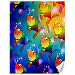 Fish Pattern Canvas 18  x 24