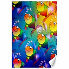 Fish Pattern Canvas 24  X 36