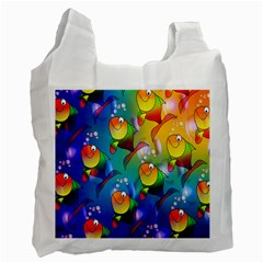 Fish Pattern Recycle Bag (One Side)