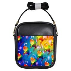 Fish Pattern Girls Sling Bags