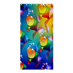 Fish Pattern Shower Curtain 36  x 72  (Stall)