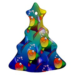 Fish Pattern Christmas Tree Ornament (two Sides)