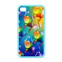 Fish Pattern Apple iPhone 4 Case (Color)