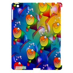 Fish Pattern Apple iPad 3/4 Hardshell Case (Compatible with Smart Cover)