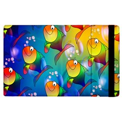 Fish Pattern Apple Ipad 2 Flip Case