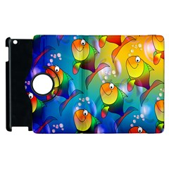 Fish Pattern Apple Ipad 2 Flip 360 Case