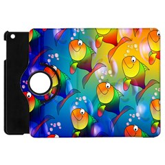 Fish Pattern Apple iPad Mini Flip 360 Case
