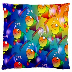 Fish Pattern Standard Flano Cushion Case (Two Sides)