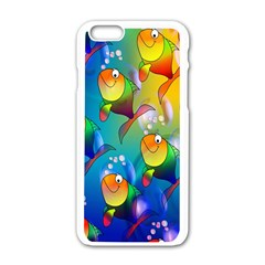 Fish Pattern Apple iPhone 6/6S White Enamel Case