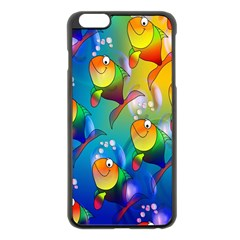 Fish Pattern Apple iPhone 6 Plus/6S Plus Black Enamel Case
