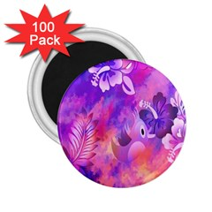 Abstract Flowers Bird Artwork 2.25  Magnets (100 pack)