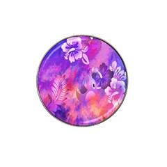 Abstract Flowers Bird Artwork Hat Clip Ball Marker (4 pack)