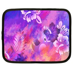 Abstract Flowers Bird Artwork Netbook Case (XXL)