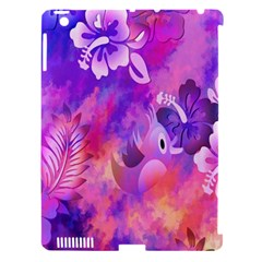 Abstract Flowers Bird Artwork Apple iPad 3/4 Hardshell Case (Compatible with Smart Cover)