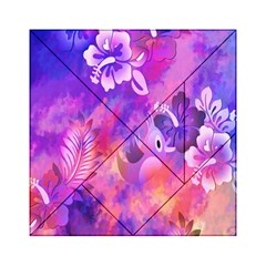 Abstract Flowers Bird Artwork Acrylic Tangram Puzzle (6  X 6 )