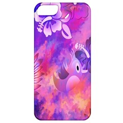 Abstract Flowers Bird Artwork Apple iPhone 5 Classic Hardshell Case