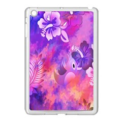 Abstract Flowers Bird Artwork Apple iPad Mini Case (White)