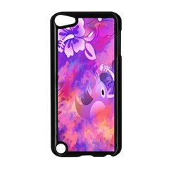 Abstract Flowers Bird Artwork Apple iPod Touch 5 Case (Black)