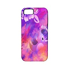 Abstract Flowers Bird Artwork Apple Iphone 5 Classic Hardshell Case (pc+silicone)
