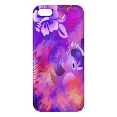 Abstract Flowers Bird Artwork Apple iPhone 5 Premium Hardshell Case