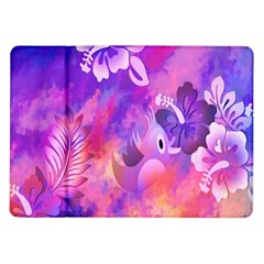 Abstract Flowers Bird Artwork Samsung Galaxy Tab 10.1  P7500 Flip Case