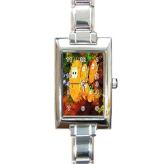 Abstract Fish Artwork Digital Art Rectangle Italian Charm Watch