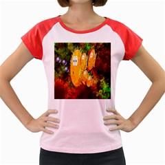 Abstract Fish Artwork Digital Art Women s Cap Sleeve T-Shirt