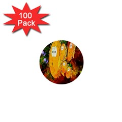 Abstract Fish Artwork Digital Art 1  Mini Buttons (100 pack)