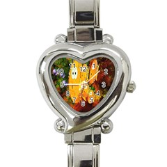 Abstract Fish Artwork Digital Art Heart Italian Charm Watch