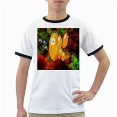 Abstract Fish Artwork Digital Art Ringer T-Shirts