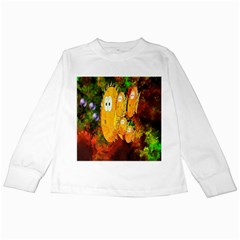 Abstract Fish Artwork Digital Art Kids Long Sleeve T Shirts