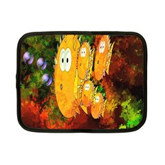 Abstract Fish Artwork Digital Art Netbook Case (Small)